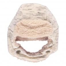 Bonnet Cache Oreilles Velours Chiné Hairy Beige