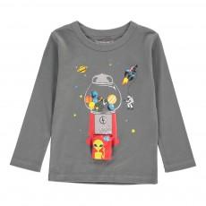 T-Shirt Planètes Tom Gris anthracite