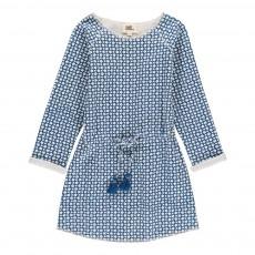 Robe Ceinturée Etoiles Dona Bleu