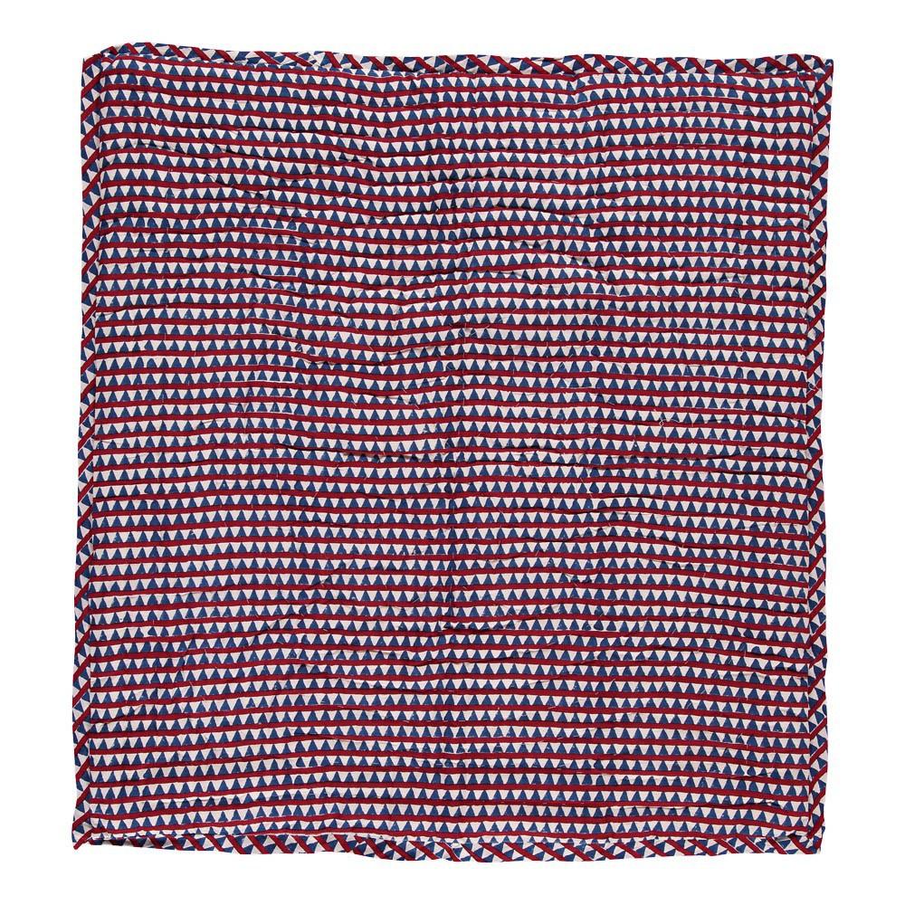 Plaid quilt r versible triangles rouge et bleu le petit lucas du tertre d coration smallable - Le petit lucas du tertre ...