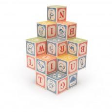 Cubes en Anglais Multicolore