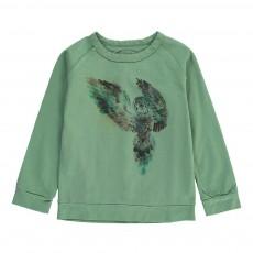 T-Shirt Coton Flammé Hibou Cheetah Vert