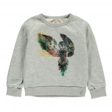 Sweat Hibou Gris chiné