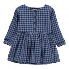Robe Boutonnée Carreaux Agatha Bleu