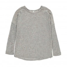 T-Shirt Soie Moucheté Exact Gris chiné clair