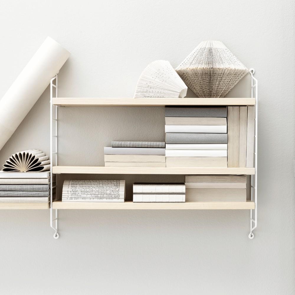 etag re pocket bouleau blanc string mobilier smallable. Black Bedroom Furniture Sets. Home Design Ideas