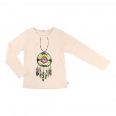 T-shirt Dreamcatcher Rose poudré
