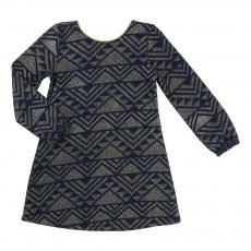 Robe Jacquard Lurex Bleu nuit