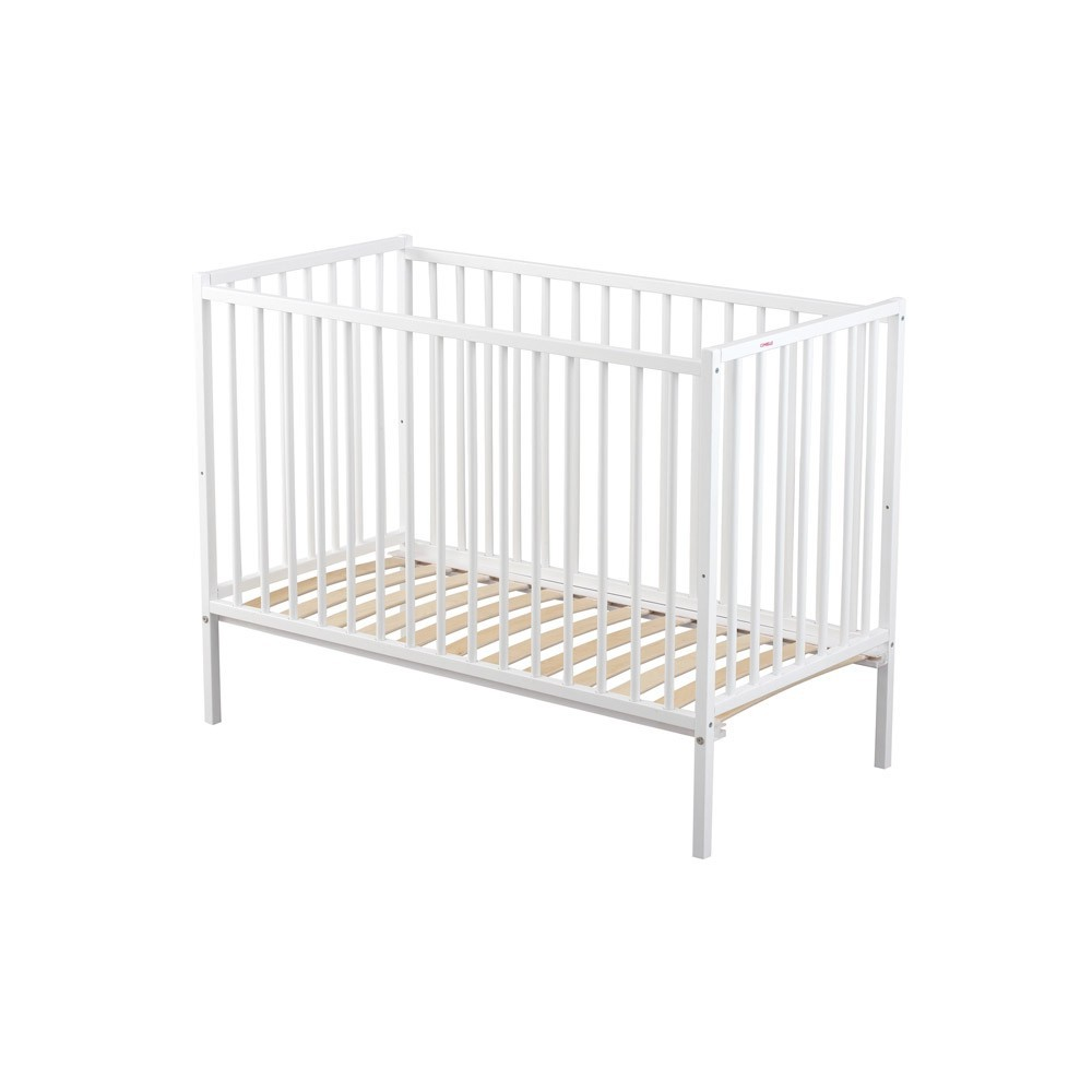 lit b b 60x120 cm r mi laqu blanc combelle mobilier smallable. Black Bedroom Furniture Sets. Home Design Ideas
