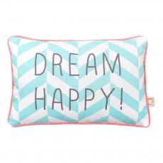 "Coussin rayé ""Dream Happy"" 20X30 cm Vert céladon"