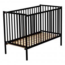 Lit bébé Rémi 70x140 cm - Laqué Noir