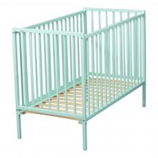 Lit bébé Rémi 70x140 cm - Laqué Vert amande