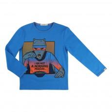 T-shirt Super Héro Bleu azur