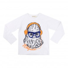 T-shirt Yéti Casque Audio Blanc