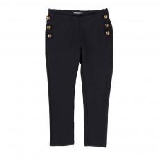 Pantalon Milano Boutons Officier Bleu marine