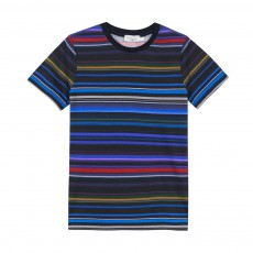 T-shirt Rayé Marvin Bleu nuit