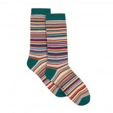 Chaussettes Rayées Manœuvre Multicolore