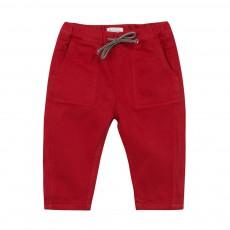 Pantalon Twill Massim Rouge