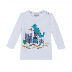 T-shirt Dinosaure Marny Blanc