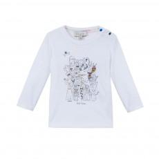 T-shirt Monstres Maxwell Blanc
