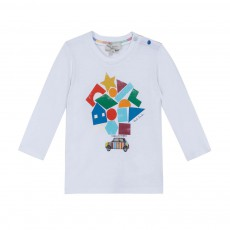 T-shirt Formes Géométriques Madley Blanc