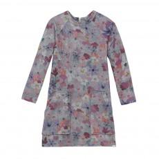 Robe Molleton Fleurs Macey Gris chiné