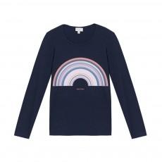 T-shirt Arc-en-Ciel Mikki Bleu marine