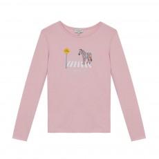 T-shirt Zèbre Marlotte Rose