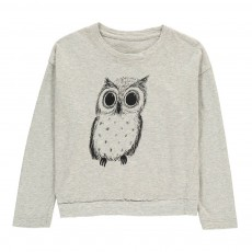 T-Shirt Hibou Bay Gris chiné clair