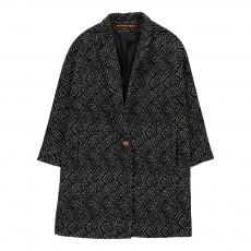 Manteau Oversize Motifs Géométriques Henry Noir