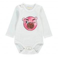 Body Ourson Rose Blanc