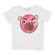 T-Shirt Ourson Rose Blanc