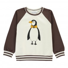 Sweat Pingouins Coton Bio Marron