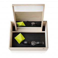 Boîte de rangement avec miroir Balsabox Noir