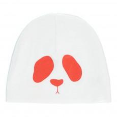 Bonnet Panda Réversible Coton Bio Blanc
