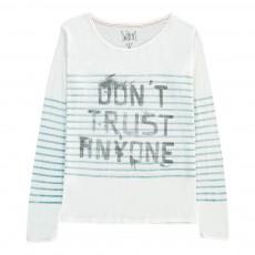 T-shirt Marinière Photon Blanc