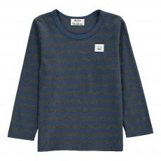 T-Shirt Rayé Patch Mini Tage Bleu