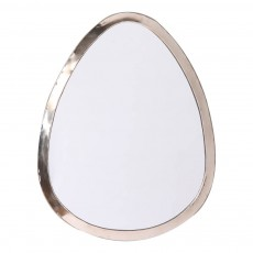 Miroir œuf en maillechort 40x30 cm Naturel