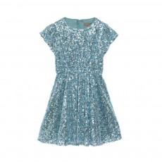Robe Sequins Glisten Bleu