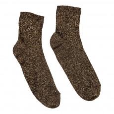 Chaussettes Côtelées Lurex Doré