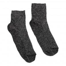 Chaussettes Côtelées Lurex Argenté