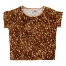 T-Shirt Bambi Velours Topi Caramel