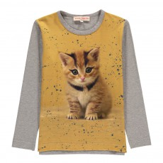 T-Shirt Chaton Lola Jaune