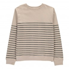Sweat Rayé Piama Beige