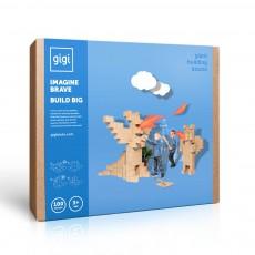 Jeu de construction en carton - Set de 100 blocs Bleu