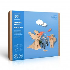 Jeu de construction en carton - Set de 100 blocs Naturel