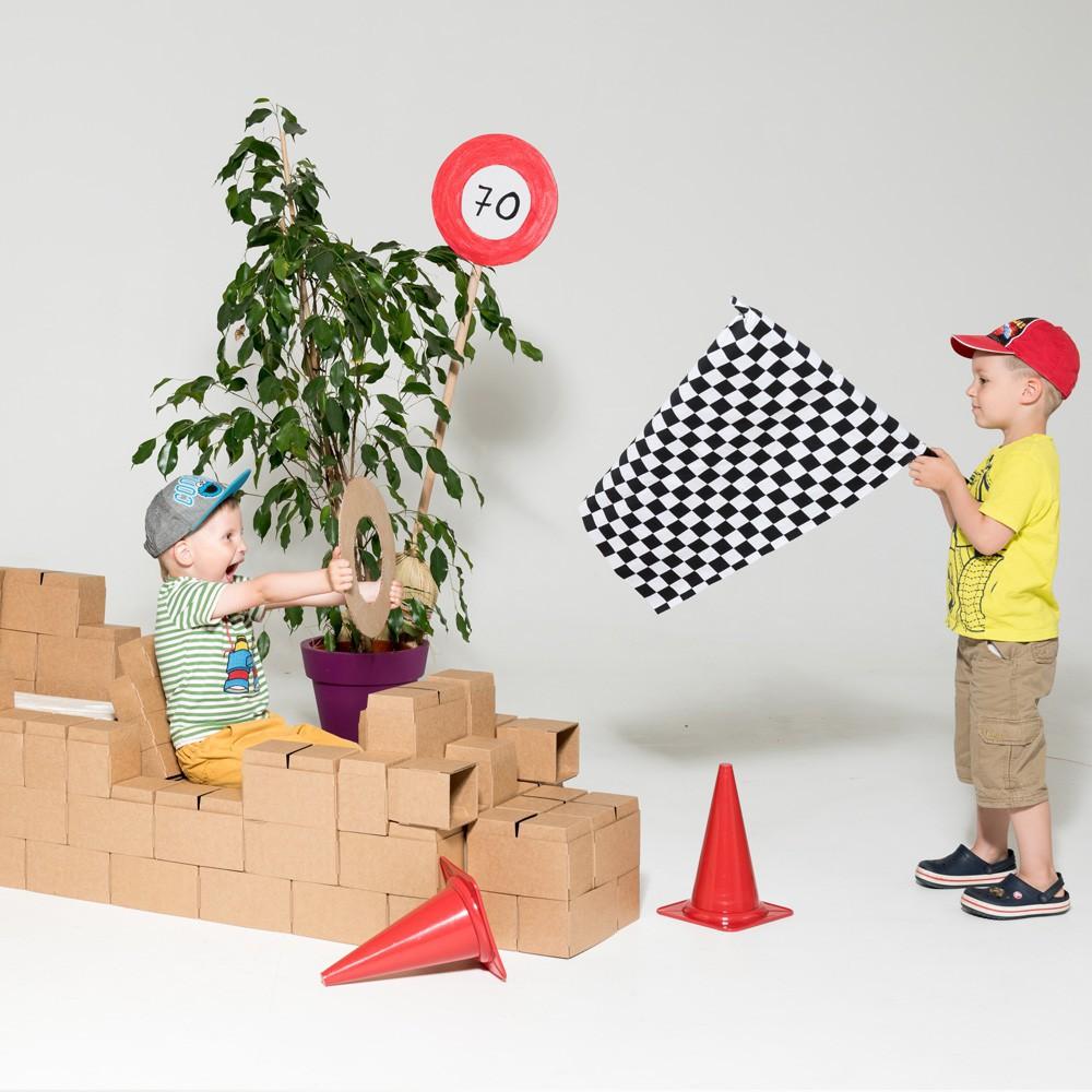 jeu de construction en carton set de 100 blocs naturel gigi bloks jeux jouets loisirs. Black Bedroom Furniture Sets. Home Design Ideas
