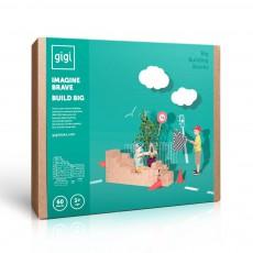 Jeu de construction en carton - Set de 60 blocs Naturel