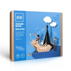 Jeu de construction en carton - Set de 96 blocs Naturel