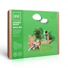Jeu de construction en carton - Set de 30 blocs Naturel